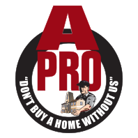 The logo for A-Pro Home Inspection of Western Columbia, La